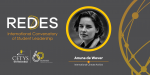 Anuna De Wever, international activist, opened REDES International Conversatory of Student Leadership