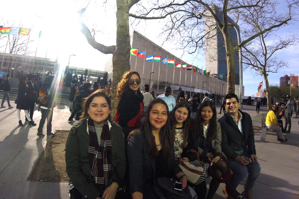 Líderes universitarios son recibidos en la ONU