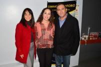 Martha Romo, Diana Ojeda y Luis Escároz.