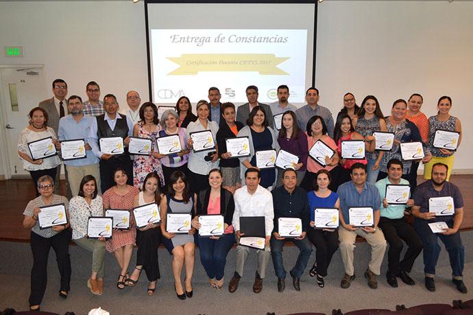Obtienen Certificación Docente 50 profesores en CETYS