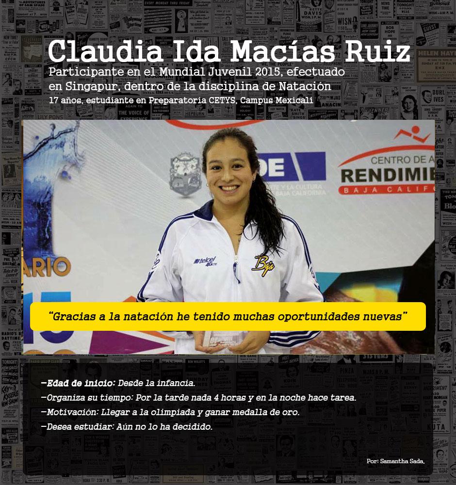 Perfiles / Claudia Ida Macías Ruiz