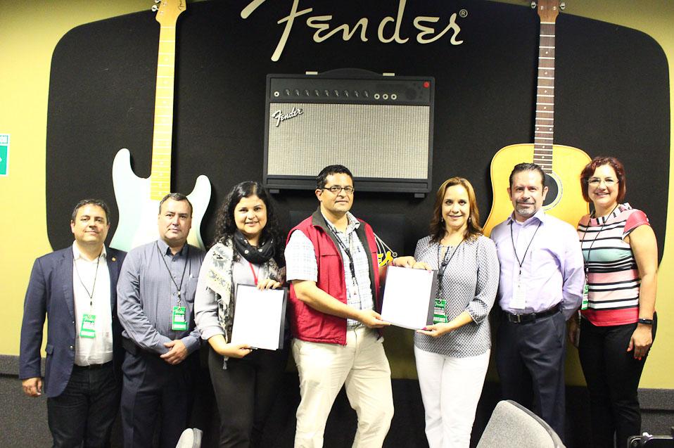 CETYS y Fender firman convenio de colaboración para posgrados en la industria