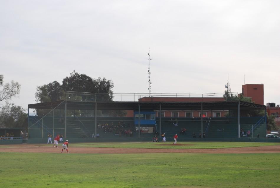 Beisbol adolescente en un parque de adultos jóvenes