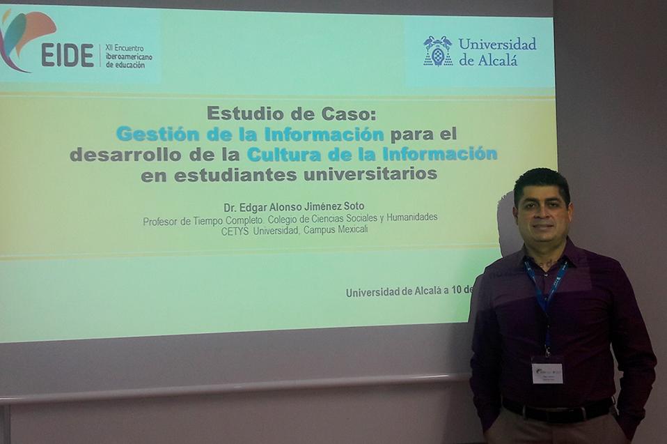 Da a conocer investigación en Alcalá