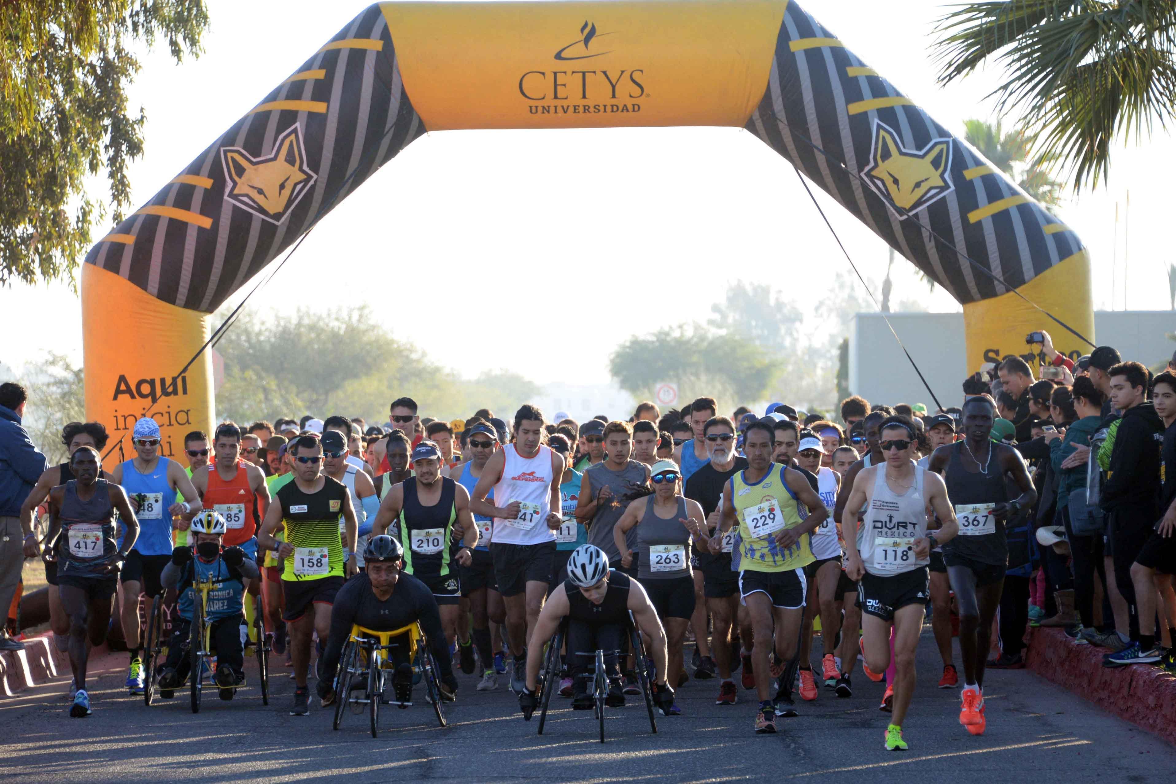 Récord de asistencia en Medio Maratón y Carrera 10K CETYS