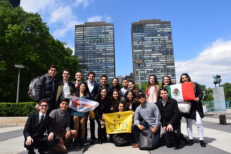 Líderes universitarios de BC son recibidos en la ONU