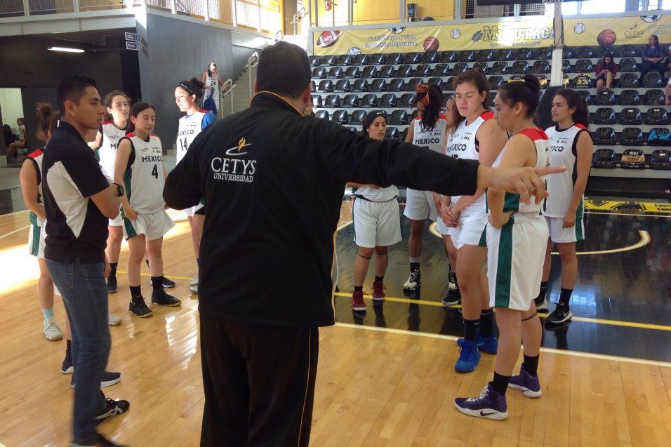 Talento técnico de CETYS rodea a la Selección Nacional Universitaria de Baloncesto