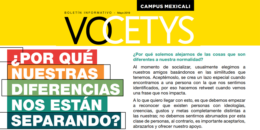 VoCETYS Quincenal – Campus Mexicali | Mayo-2019