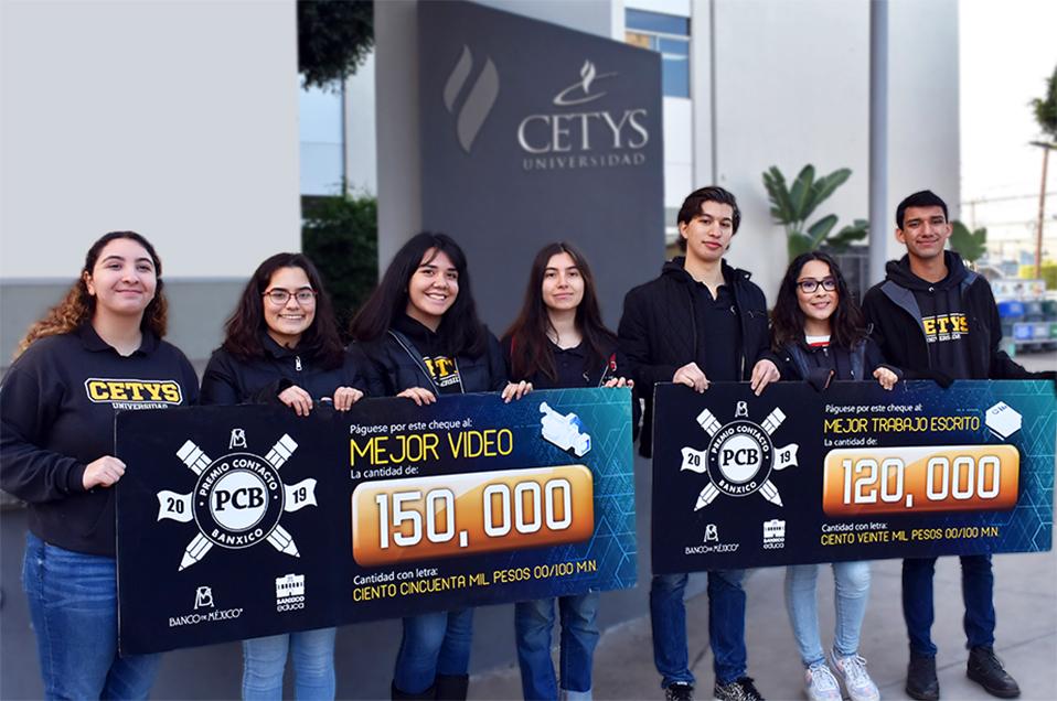 Ganan estudiantes de CETYS competencia del Banco de México