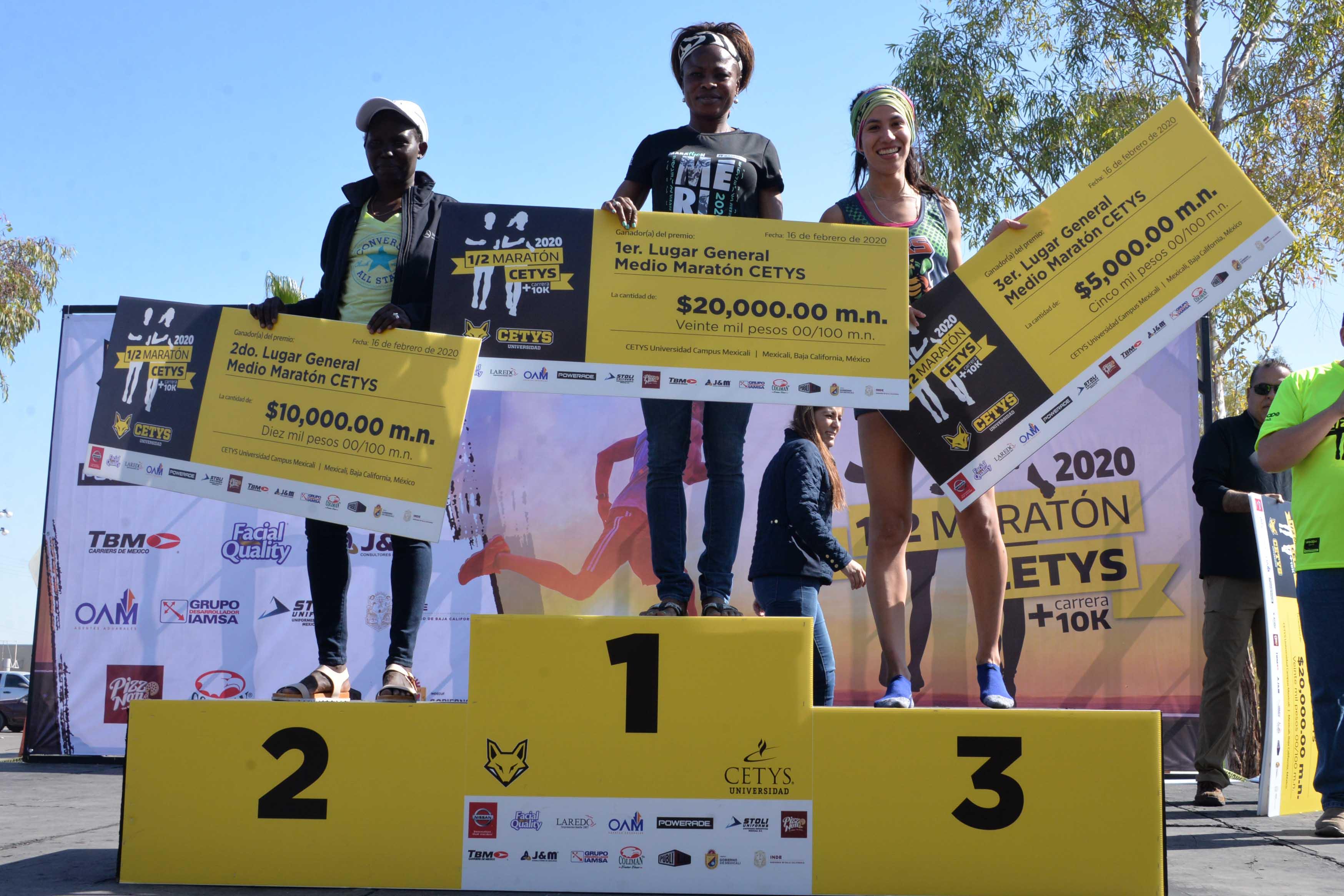 Wanyoike y Akor son los ganadores del Medio Maratón del CETYS