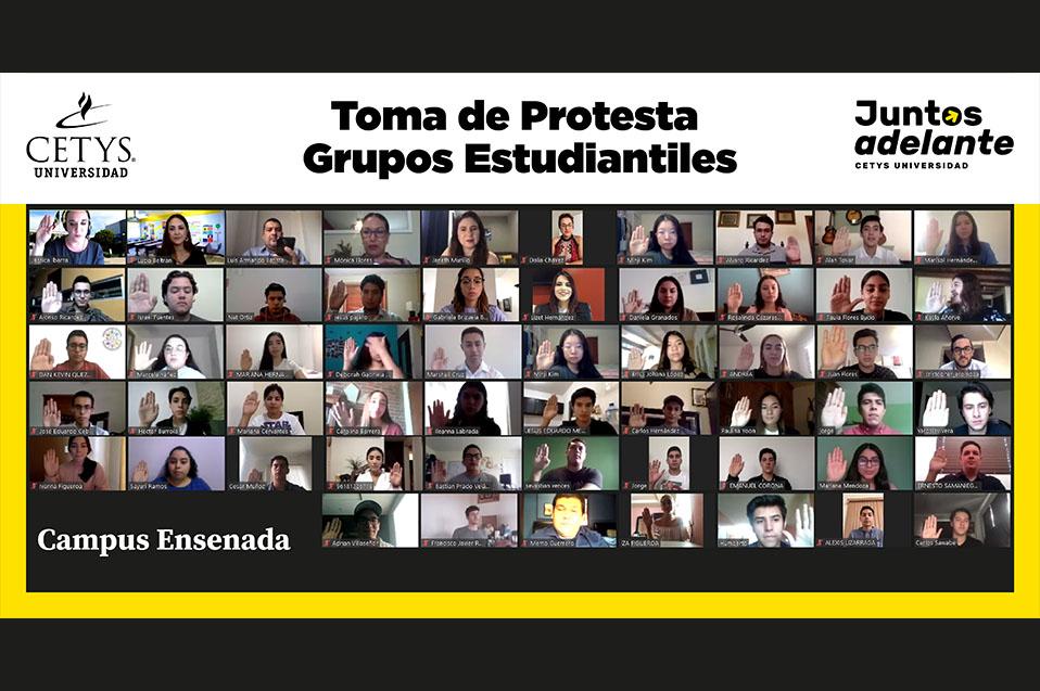 Nuevos líderes estudiantiles de Profesional toman protesta