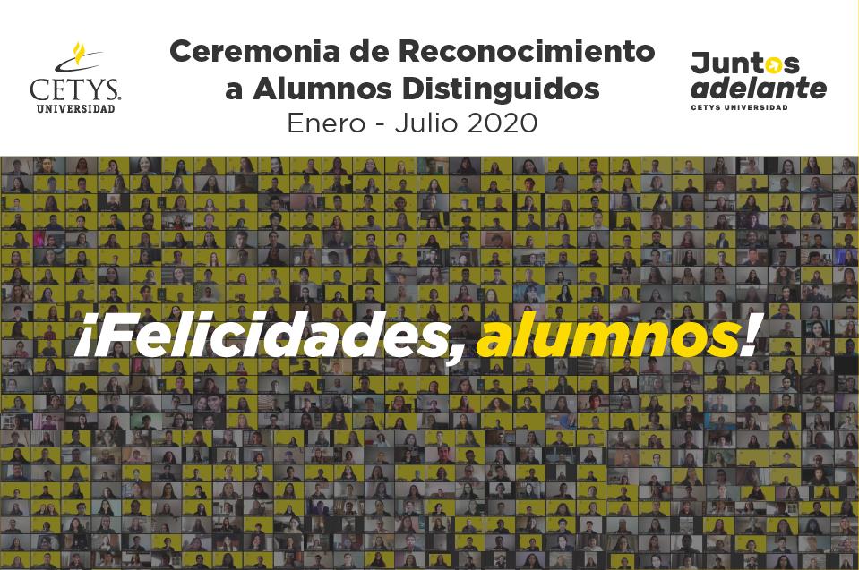 Reconocen a Alumnos Distinguidos CETYS en ceremonias virtuales