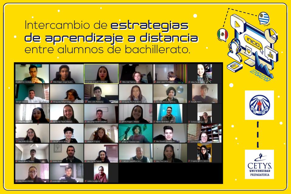 Jóvenes de México y Uruguay intercambian estrategias de aprendizaje a distancia