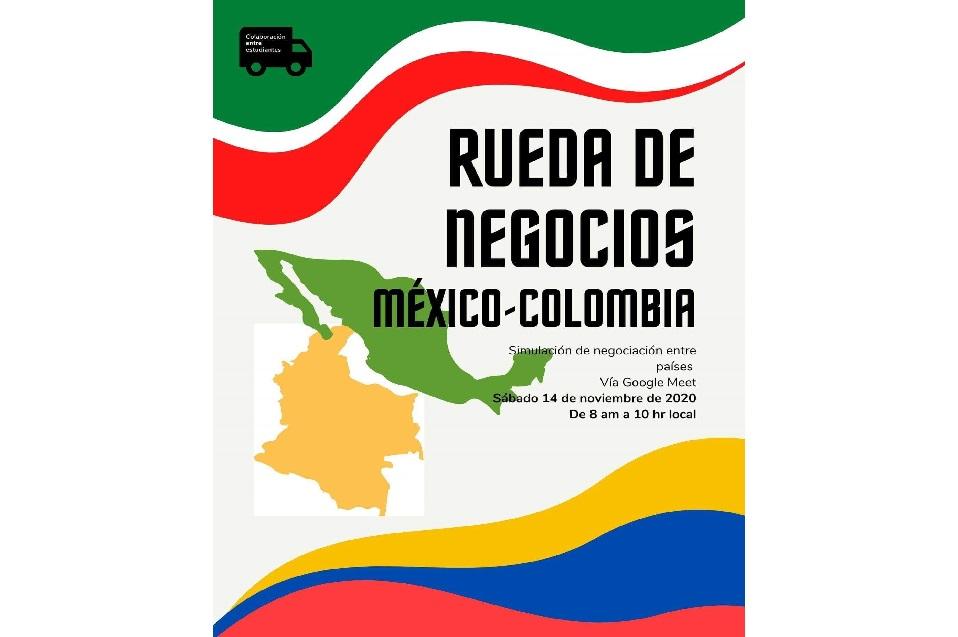 Alumnos de CETYS y de la Universidad Areandina de Colombia sostienen una Rueda de Negocios