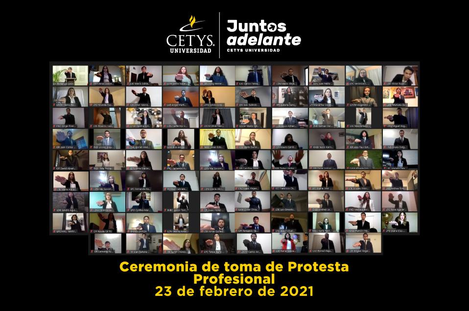 Egresados de profesional del Sistema CETYS Universidad toman protesta en ceremonia virtual