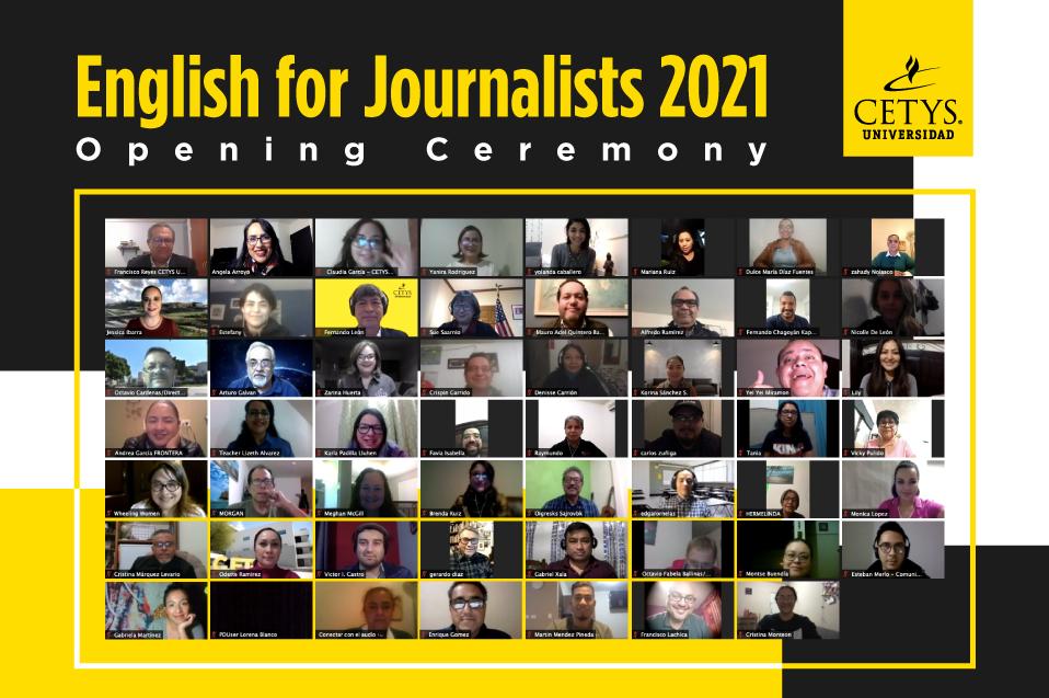 Da comienzo el Journalists English Course 2021 para periodistas de BC y BCS