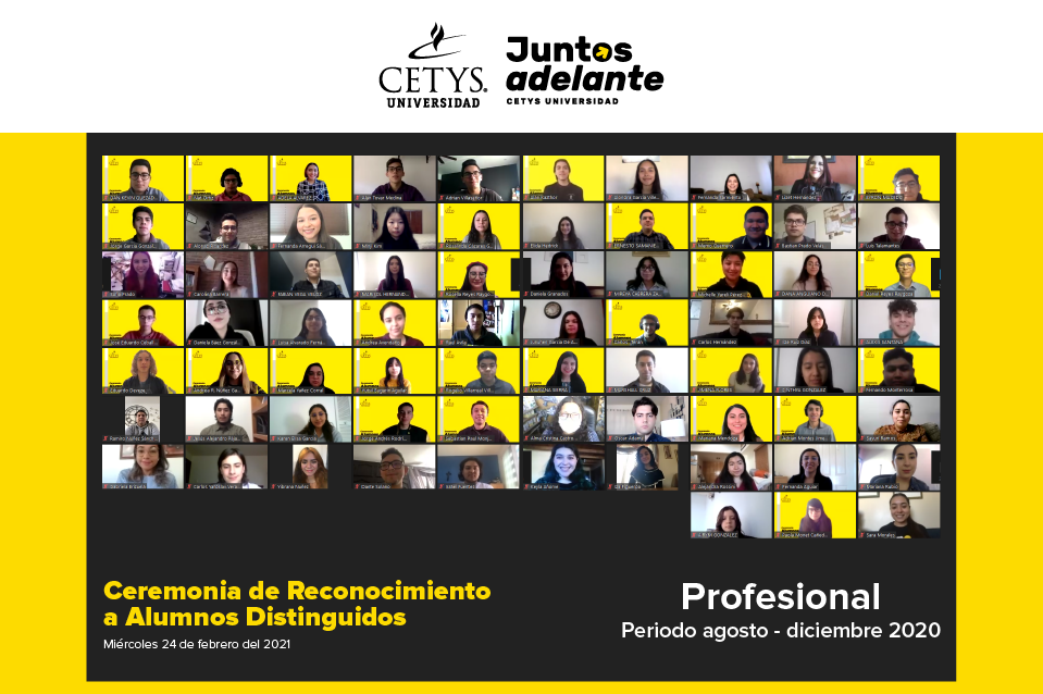 Alumnos distinguidos Profesional 2021.