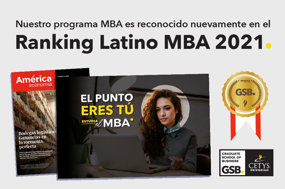 Reconoce el Ranking MBA Latino 2021 al CETYS Graduate School of Business