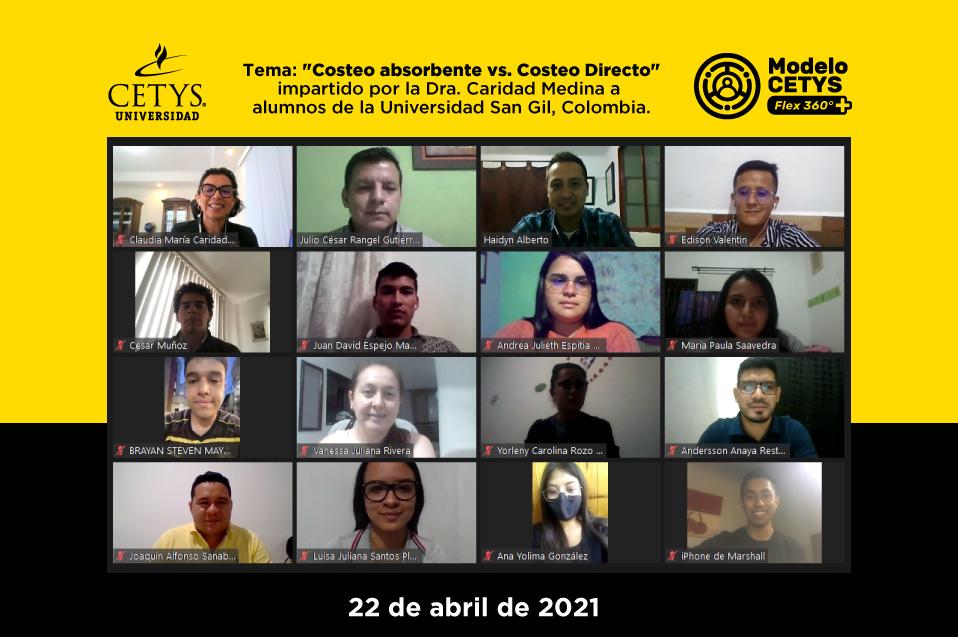 Imparte docente de CETYS clase virtual en universidad extranjera como invitada de Link Class de CLADEA