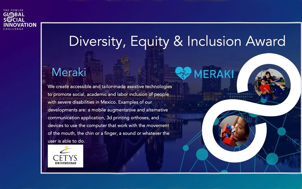 Otro logro más, Meraki gana uno de los premios del Global Social Innovation Challenge