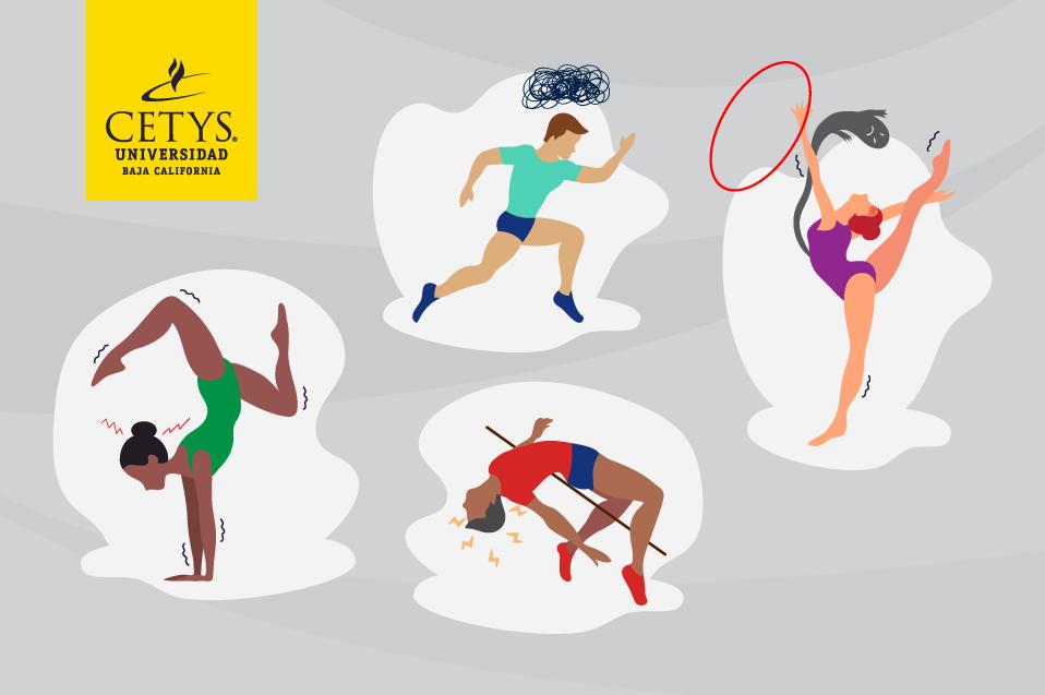 El estrés y ansiedad que pueden presentar atletas antes, durante y después de las competencias