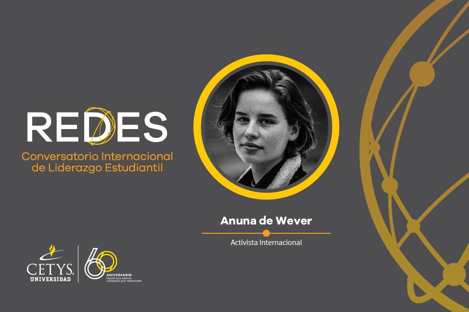 Activista internacional Anuna de Wever te invita al Conversatorio Internacional REDES
