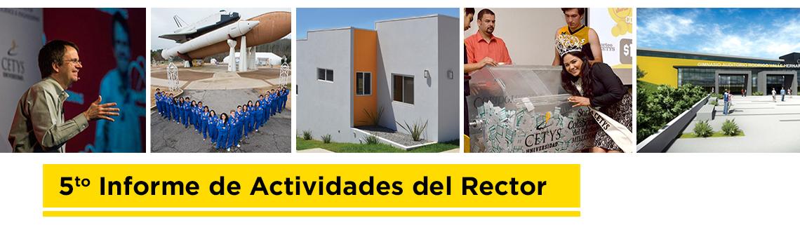 5to informe de actividades del Rector