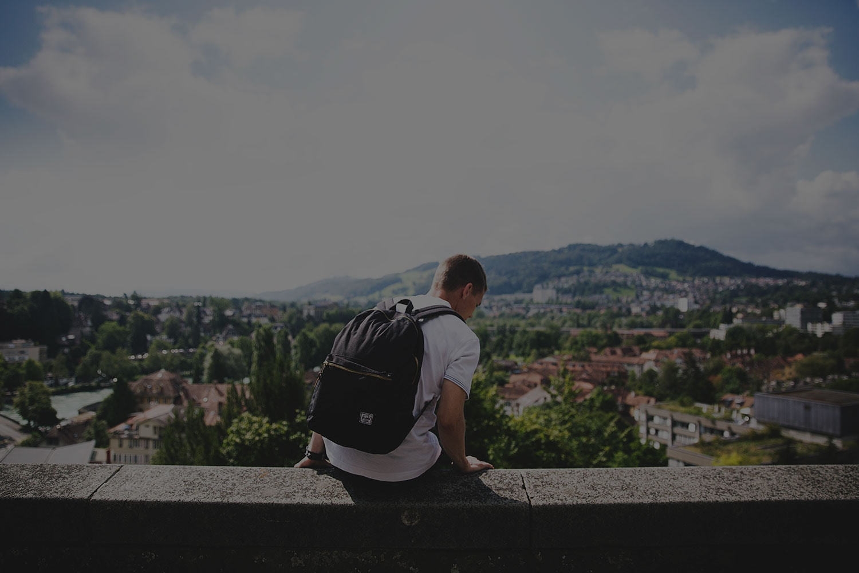 Alumno en un viaje de estudios