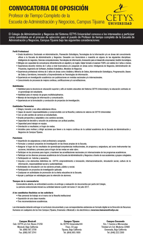 Empleos - CETYS Universidad
