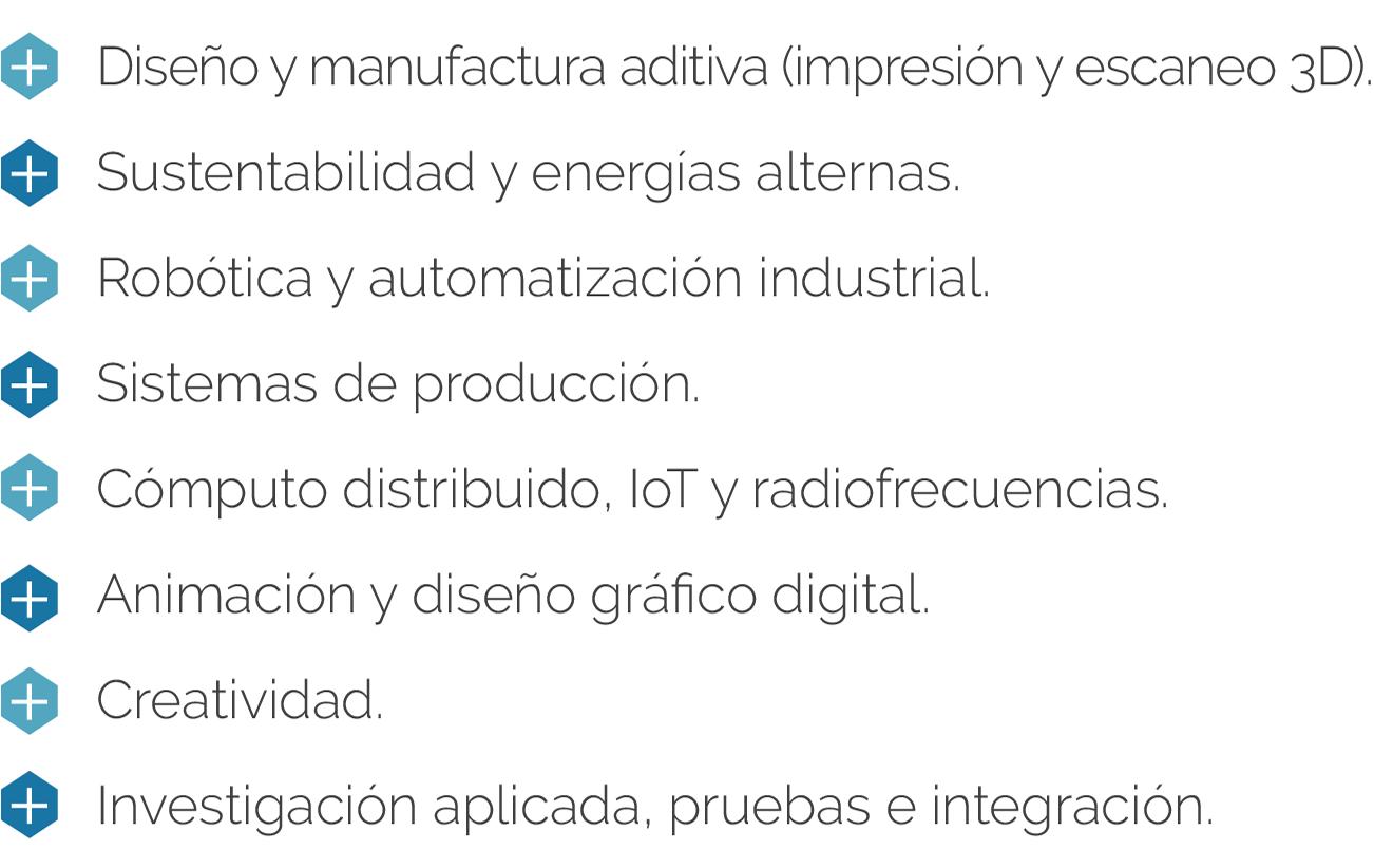 Espacios del Centro de Innovación y Diseño