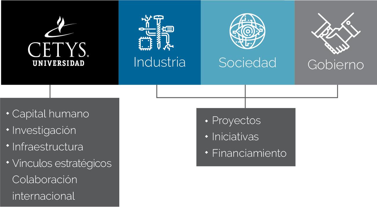 Diagrama de sectores en los que impacta el Centro de Innovación y Diseño