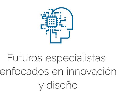 Logo y título de Futuros especialistas enfocados en innovación y diseño
