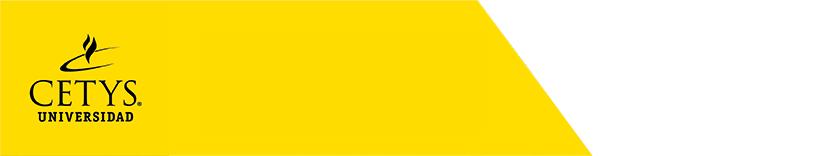 Logo de CETYS Universidad con fondo amarillo y blanco