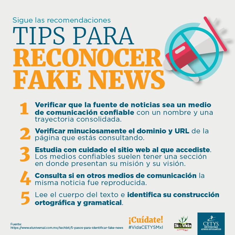 tips para reconocer fake news