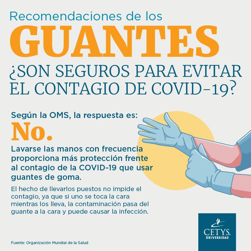 Recomendaciones de los guantes